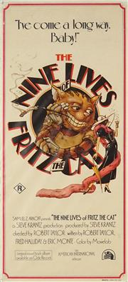 Sale 8822A - Lot 5048 - The Nine Lives of Fritz the Cat - 72 x 32cm