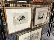 Sale 8906 - Lot 2018 - Artist Unknown (2 works): Animal Studies charcoal, 39.5 x 42cm (frames), unsigned. Provenance: Estate of Ray Hughes