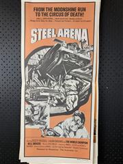 Sale 9003P - Lot 98 - Vintage Movie Poster - Steel Arena starring the World Champion Hell Drivers