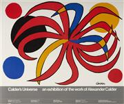 Sale 9078A - Lot 5005 - Alexander Calder (1898 - 1976) - Calder's Universe: An Exhibition on the Work of Alexander Calder 71.5 x 84.5 cm (sheet)