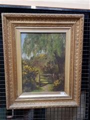 Sale 9077 - Lot 2004 - Annie Turner (C19th) Secret Garden 1893 56 x 46 cm (frame) signed and dated lower left