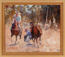 Sale 9190H - Lot 353 - Offerd, Camp drafting, oil on canvas, 59cm x 68cm, signed lower right
