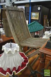 Sale 8277 - Lot 1074 - Set of Four Timber Fold Out Chairs
