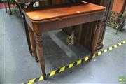 Sale 8299 - Lot 1034 - 19th Century French Fold Over Card Table