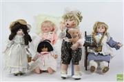 Sale 8521 - Lot 14 - Beautiful Dreamers Ashton Drake Doll Together with Others inc Knowles Dolls Examples