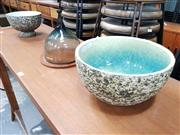 Sale 8684 - Lot 1094 - Pair of Graduated Ceramic Bowls with Glazed Interior