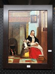 Sale 8816 - Lot 2072 - Artist Unknown - Mother & Daughter, Oil Painting