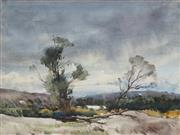 Sale 8847A - Lot 5096 - Geoffrey Keith Townshend (1888-1973) - Landscape at Warriewood 34 x 45cm