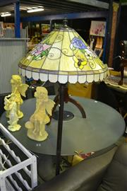 Sale 8013 - Lot 1045 - Lead Light Shade Standing Lamp