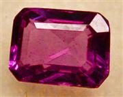 Sale 8036A - Lot 365 - AN UNSET PINK SAPPHIRE; step cut of 0.40ct.