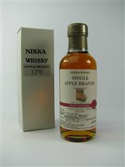 Sale 8329 - Lot 568 - 1x Nikka Whisky 12YO Hirosaki - Fruity & Sweet Single Apple Brandy - 180ml in box