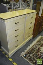 Sale 8338 - Lot 1360 - Pair of Slim Five Drawer Chests