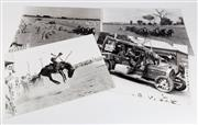 Sale 8473A - Lot 20 - A collection of four black and white sepia photographs of Australian rural interest, each 30 x 40cm, some slight discolouration and...