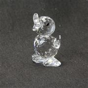 Sale 8412B - Lot 85 - Swarovski Crystal Duckling with Box - Height 4cm