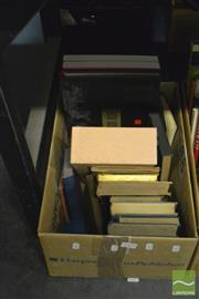Sale 8405 - Lot 2338 - Box of Various Books incl. Corner & Border Designs 1900; Strachey, L. Eminent Victorians; The Poems of Matthew Arnold 1840-1867...