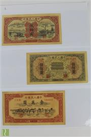 Sale 8508 - Lot 55 - Chinese Early Money Notes 50, 500 and 10000 Dollar Notes