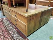 Sale 8545 - Lot 1094 - Cypress Six Drawer Coffee Table
