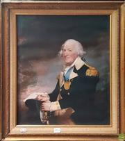 Sale 8595 - Lot 2041 - Portrait of an Admiral, print on canvas, 50 x 40cm