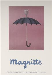 Sale 9078A - Lot 5006 - Rene Magritte (1898 - 1967) - Exhibition Poster for Galerie Isy Brachot 62 x 44.5 cm (sheet)