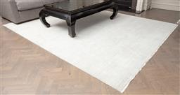 Sale 9130H - Lot 25 - An Armadillo handcrafted Agra knot woollen carpet in ivory, 240cm x 300cm