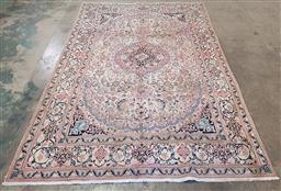 Sale 9255 - Lot 1025 - Handknotted pure wool vintage Persian Nain (295 x 190cm)