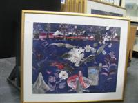 Sale 7919 - Lot 598 - John Wolseley 18 Works - Botanists Camp, Night, Lithographs, Hand Signed, Edition of 60, 74 x 94cm