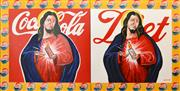 Sale 8259 - Lot 556 - Dennis Ropar (1971 - ) - Coca-Cola Christ (diptych) 150 x 300cm (total)