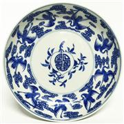 Sale 8292 - Lot 31 - Chien Lung Style Blue & White Plate