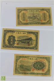 Sale 8508 - Lot 54 - Chinese Early Money Notes 10000 and Two 50000 Dollar Notes (3)