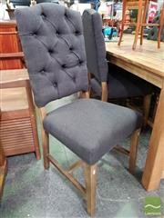 Sale 8566 - Lot 1322 - Set of 6 Black Upholstered Dining Chairs