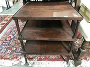 Sale 8809 - Lot 1085 - Three Tiered Timber Side Table