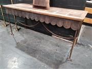 Sale 8904 - Lot 1002 - Metal Hall Table with Timber Top