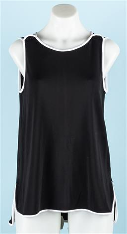 Sale 9092F - Lot 47 - A MAX MARA SWING TOP; A-line style, black with white trim.