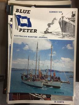 Sale 9152 - Lot 2414 - Collection of Shipping magazines incl. Blue Peter; Sea Fare; Ships Monthly; Port of Melbourne; etc