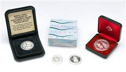 Sale 9164 - Lot 124 - A collection of cased coins incl silver proof