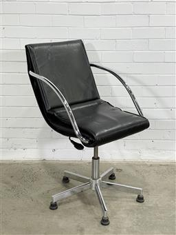 Sale 9166 - Lot 1041 - Designer Office Chair (h98 x d75cm) (minor punctures to seat) -