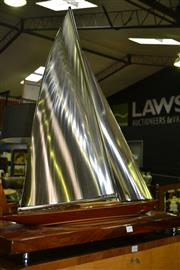 Sale 8093 - Lot 1397 - Model Pond Yacht Signed John Woulhe 2008