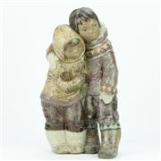 Sale 8314 - Lot 81 - Lladro Figure Group Couple from the Artic by Juan Huerta