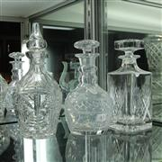 Sale 8306 - Lot 43 - Stuart Crystal Decanter with Two Other Crystal Decanters