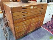 Sale 8550 - Lot 1147 - 10 Drawer Mahogany Map Chest