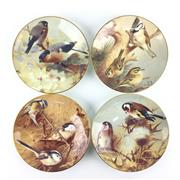Sale 8545N - Lot 36 - Set of Four Coalport Cabinet Plates with Bird Motifs (D: 19cm)