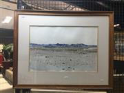 Sale 8707 - Lot 2021 - Minette - Desert Ranges, 1990 watercolour, 80 x 64cm signed and dated lower left