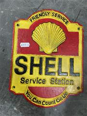 Sale 9043 - Lot 1068 - Cast Iron Sign - Shell Service