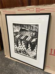 Sale 9072 - Lot 2076 - Alison Renwick Untitled lithograph ed 1/6 , 88 x 73cm (frame) signed -
