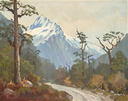 Sale 9256A - Lot 5160 - WALLACE KEOWN (1938 - ) View Towards Mount Lyttle, New Zealand oil on board 34 x 44 cm (frame: 46 x 55 x 3 cm) signed lower left
