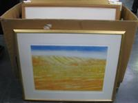 Sale 7919 - Lot 599 - Max Miller 18 Works - West McDonnell Ranges, Etchings, Edition of  70, 50 x 70cm, Framed, Condition Various
