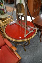 Sale 8019 - Lot 1079 - Circular Occasional Table w Gold Painted Base