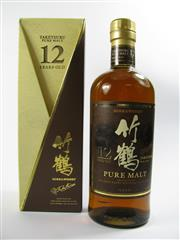 Sale 8329 - Lot 561 - 1x Nikka Whisky 12YO The Taketsuru Distillery Pure Malt Japanese Whisky - in box
