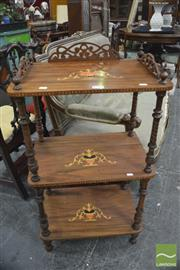 Sale 8326 - Lot 1714 - Victorian Inlaid Three Tier Whatnot