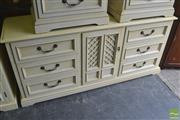 Sale 8338 - Lot 1366 - Sideboard with Six Drawers & Rattan Doors